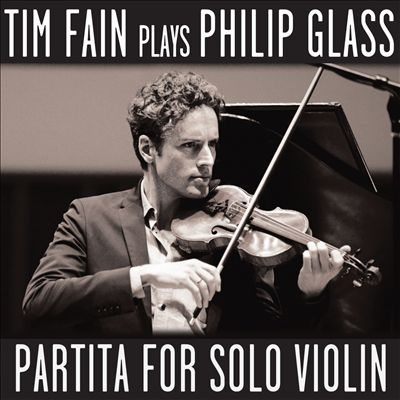 Tim Fain plays Phillip Glass album cover
